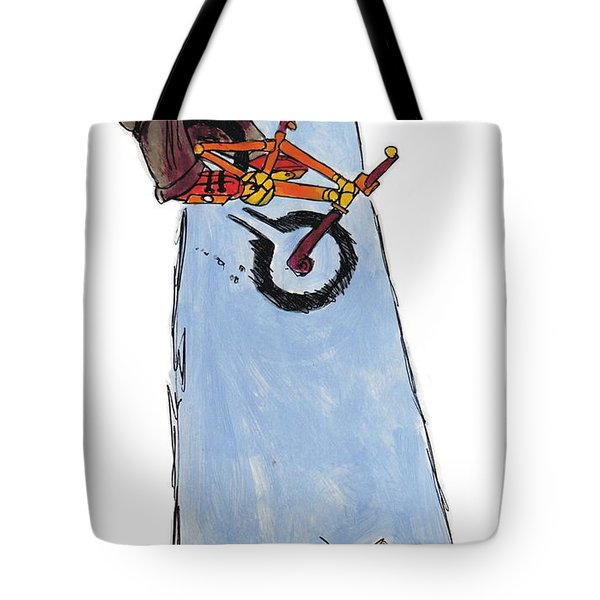 Bmx Drawing Tote Bag by Mike Jory