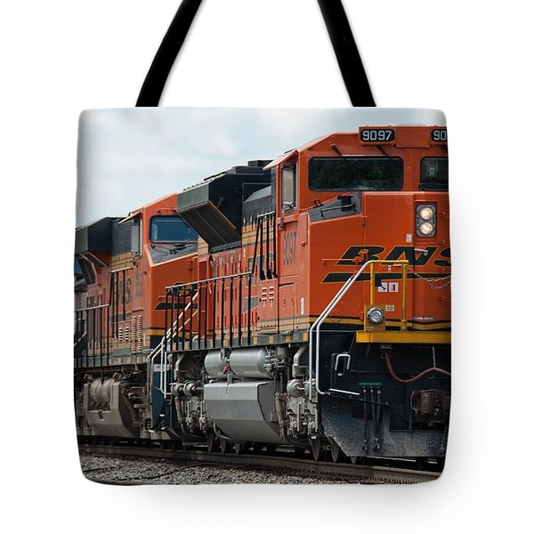 Tote Bag featuring the photograph Bnsf 9097 In Atlanta by John Black