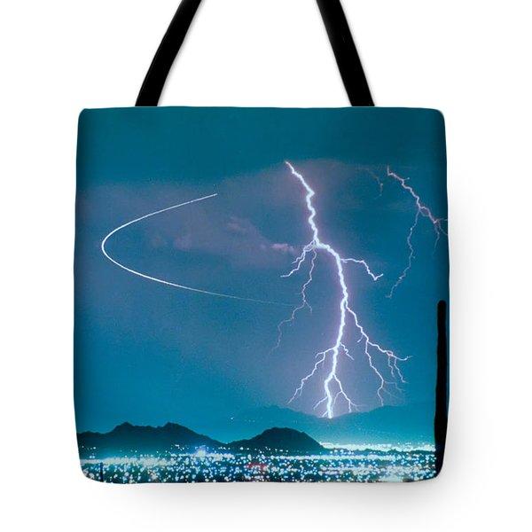 Bo Trek The Lightning Man Tote Bag by James BO  Insogna