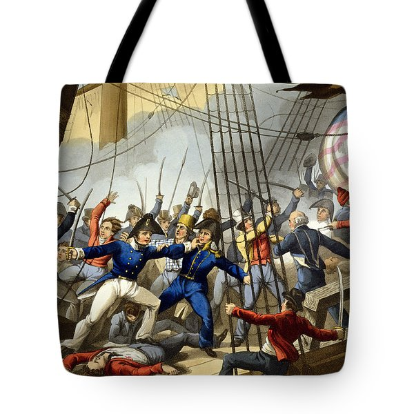 Boarding And Taking The American Ship Tote Bag