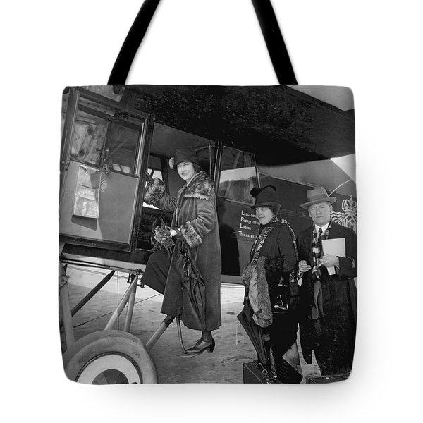 Boarding Fokker Airplane Tote Bag by Underwood Archives
