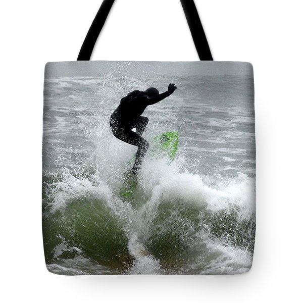 Boardskimming - Into The Surf Tote Bag by Kim Bemis