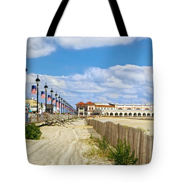 Boardwalk And Music Pier Tote Bag