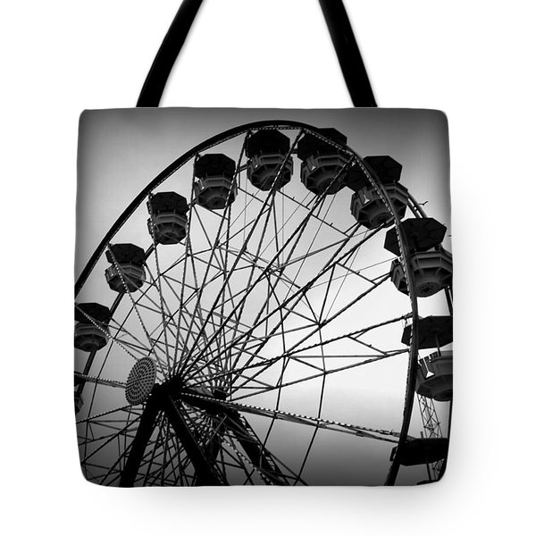 Tote Bag featuring the photograph Boardwalk Beauty by Laurie Perry