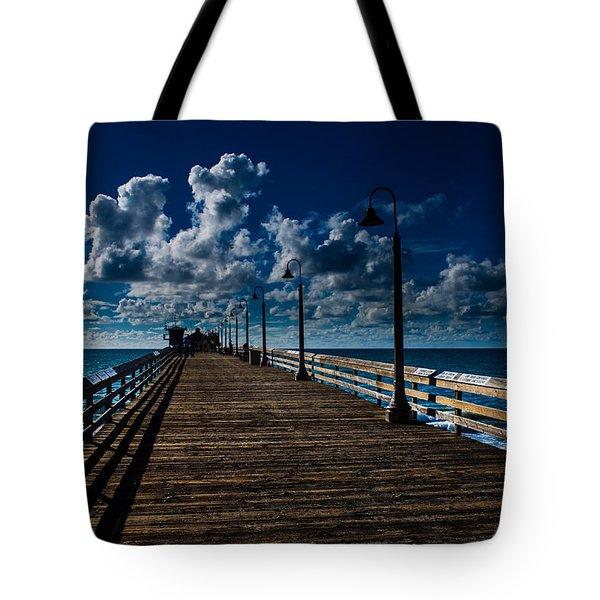 Boardwalk Blues  Tote Bag by Cecil K Brissette
