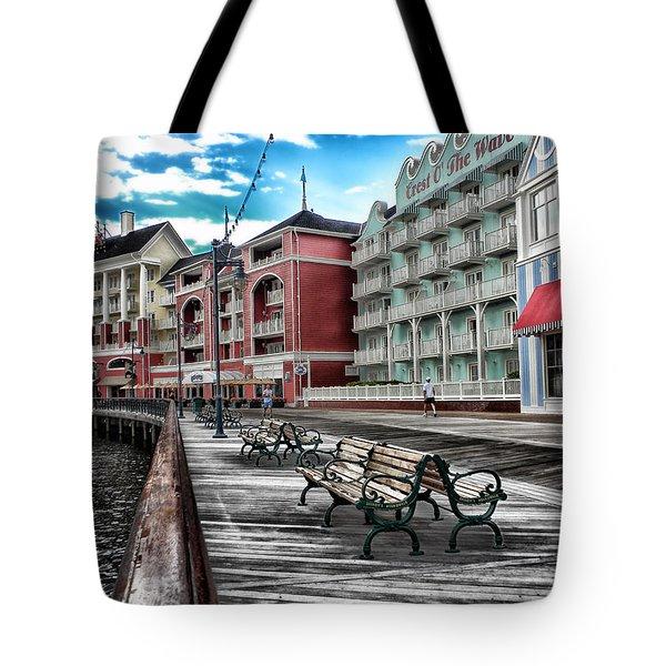 Boardwalk Early Morning Tote Bag