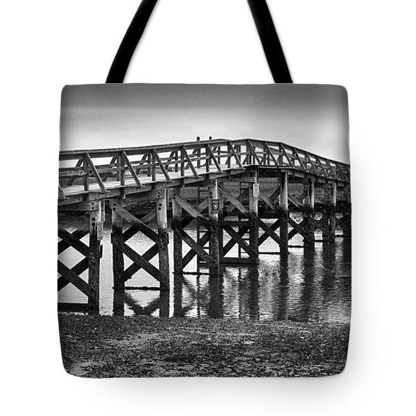 Sandwich Boardwalk Over Mill Creek Tote Bag