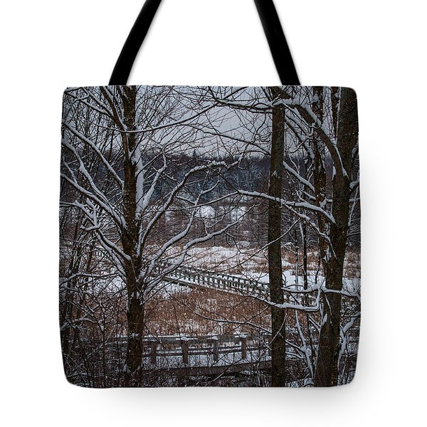 Tote Bag featuring the photograph Boardwalk Series No3 by Bianca Nadeau