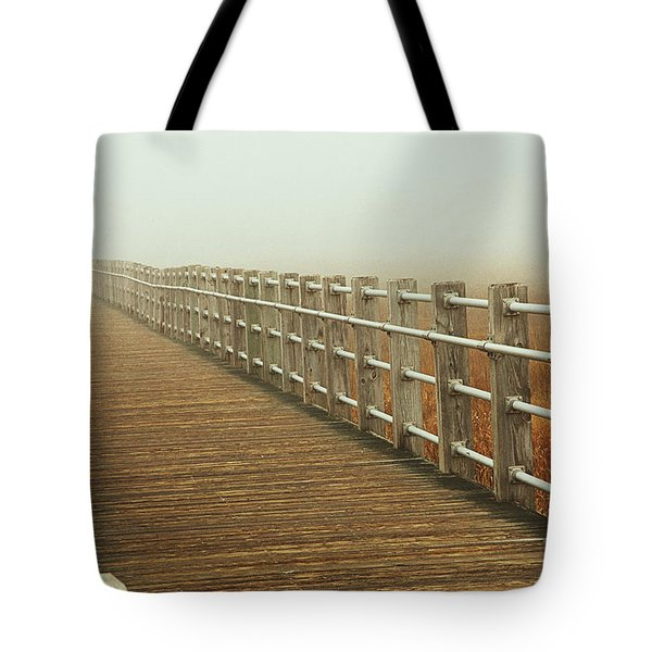 Boardwalk To The Unknown Tote Bag by Karol Livote