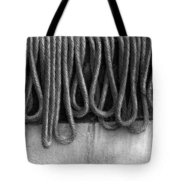 Boat - Abstract - Fit To Be Tied Tote Bag by Mike Savad