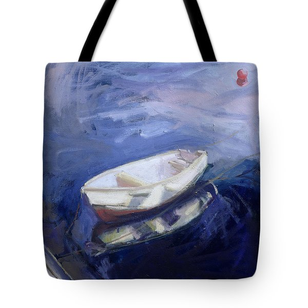 Boat And Buoy Tote Bag by Sue Jamieson