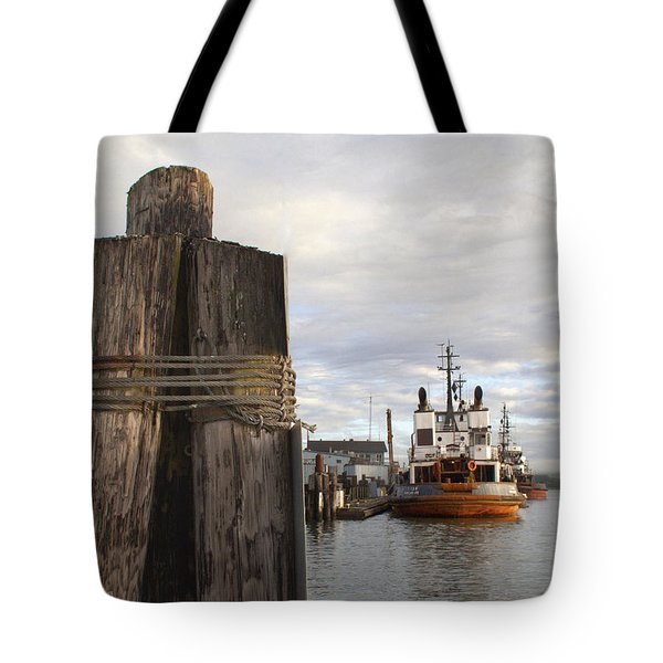 Tote Bag featuring the photograph View From The Pilings by Suzy Piatt