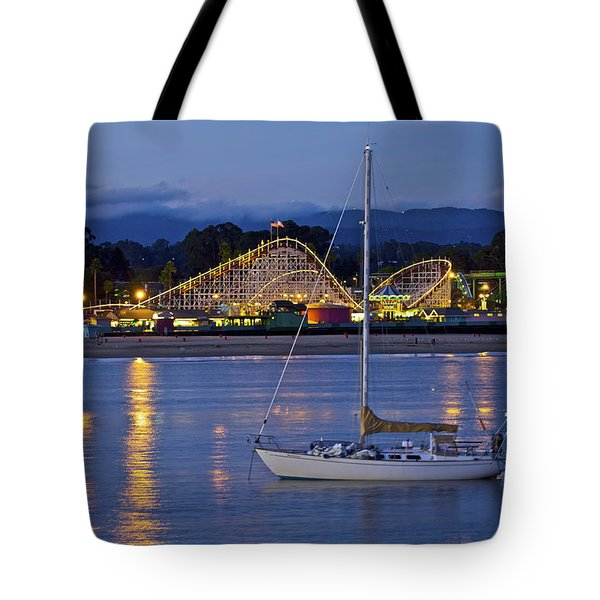 Boat At Twilight Tote Bag