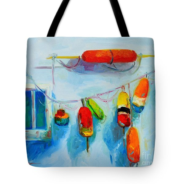 Colorful Buoys 2 Tote Bag