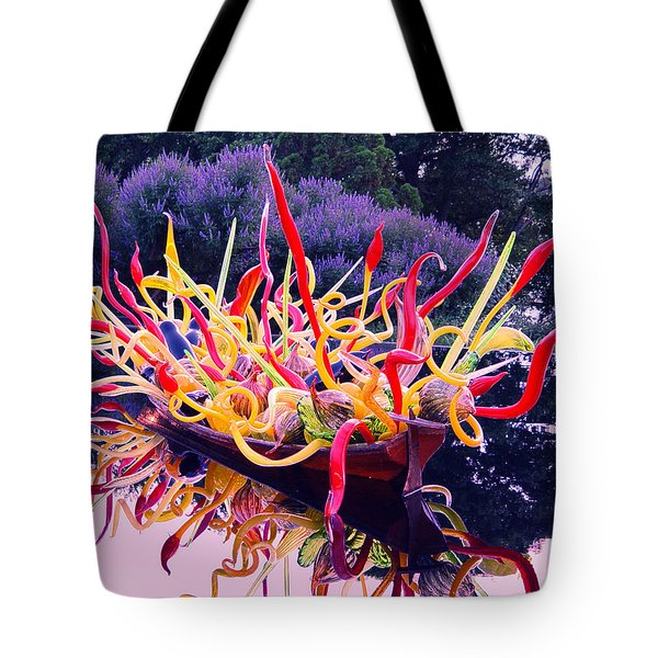 Boat Full Of Chihuly With Lavender Tote Bag