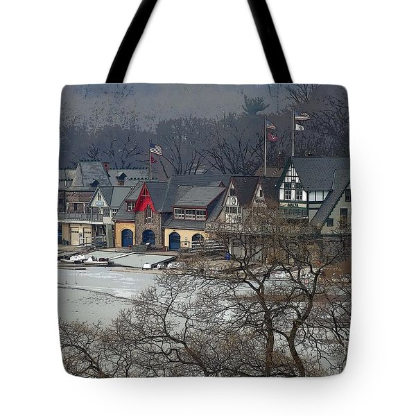 Philadelphia's Boat House Row  Tote Bag by Cindy Manero