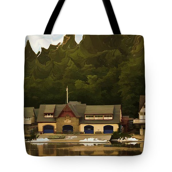 Boat House Row Tote Bag by Trish Tritz