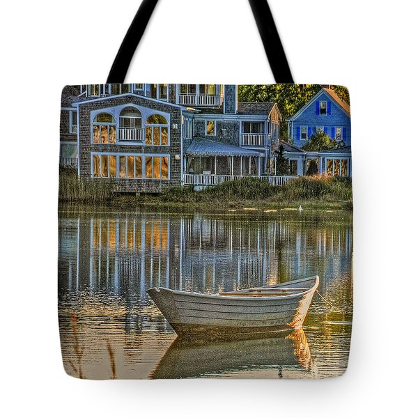 Boat In Late Afternoon Tote Bag