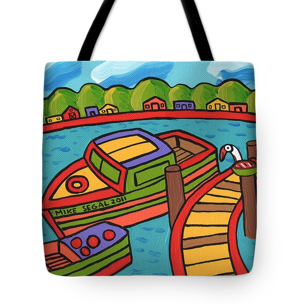 Boat In The Bayou - Cedar Key Tote Bag