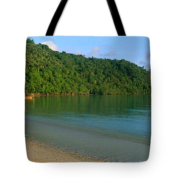 Boat In The Sea, Loh Dalam Bay, Phi Phi Tote Bag
