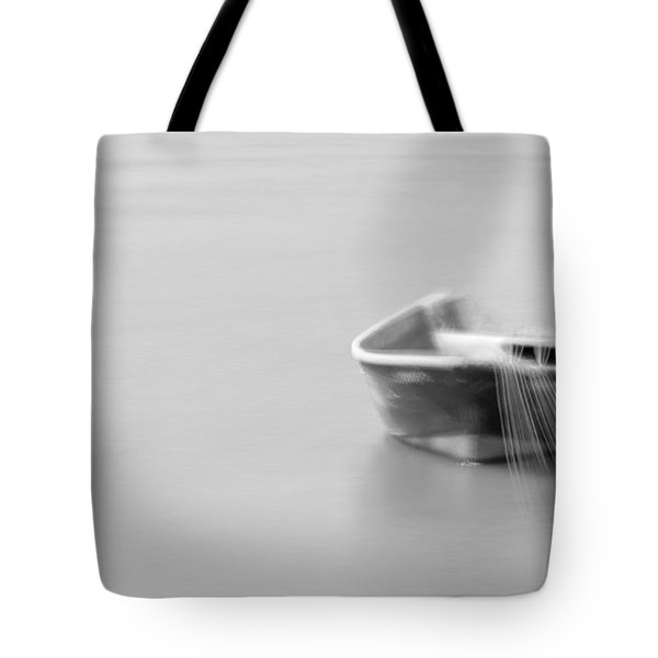 Boat In Water Tote Bag