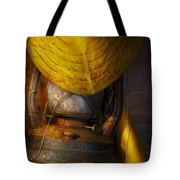Boat - It Was A Dark And Stormy Night Tote Bag by Mike Savad
