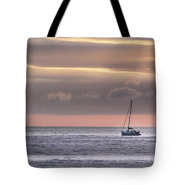 Boat Mooring Off Nairn Beach Tote Bag