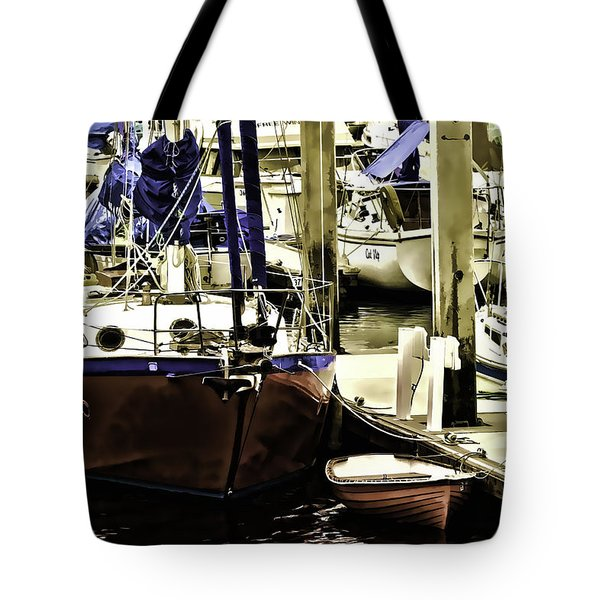 Tote Bag featuring the painting Boat by Muhie Kanawati