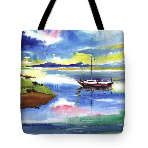 Boat N Colors Tote Bag by Anil Nene