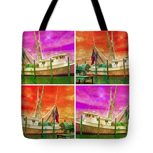 Boat Of A Different Color Tote Bag by Betsy Knapp