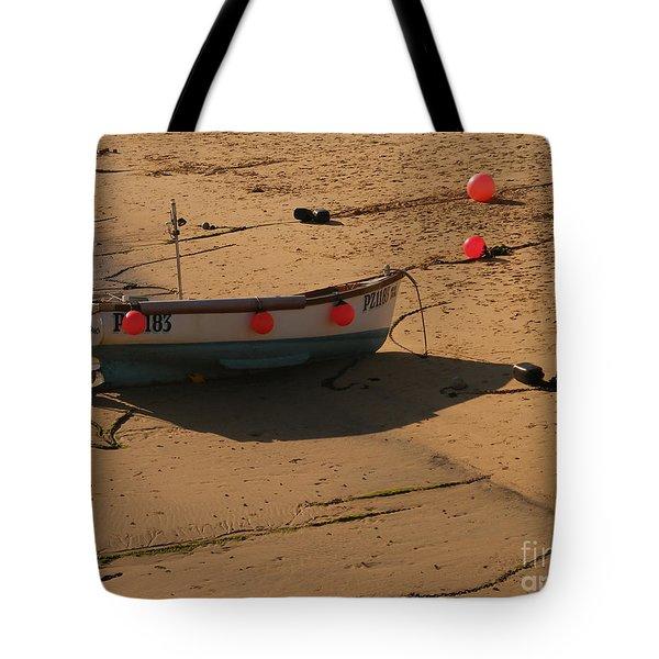 Boat On Beach 04 Tote Bag by Pixel Chimp