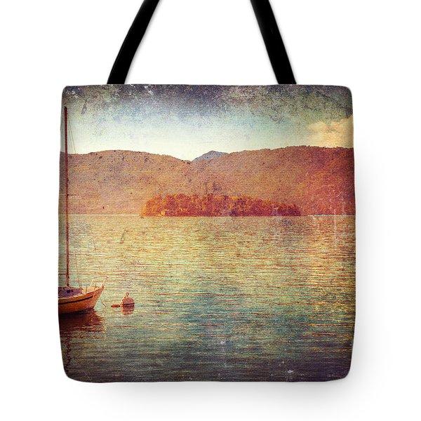 Boat On Lake Maggiore Tote Bag