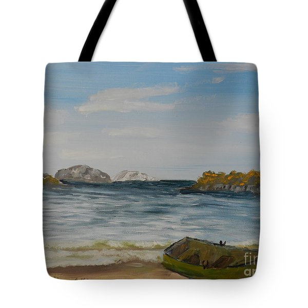 Boat On The Beach Tote Bag