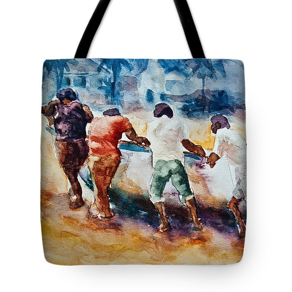 Men At Work Tote Bag