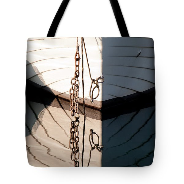 Boat Reflection Tote Bag by Simona Ghidini
