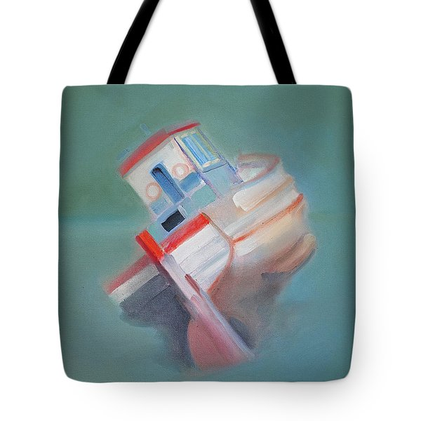 Tote Bag featuring the painting Boat Retired  Tavira by Charles Stuart