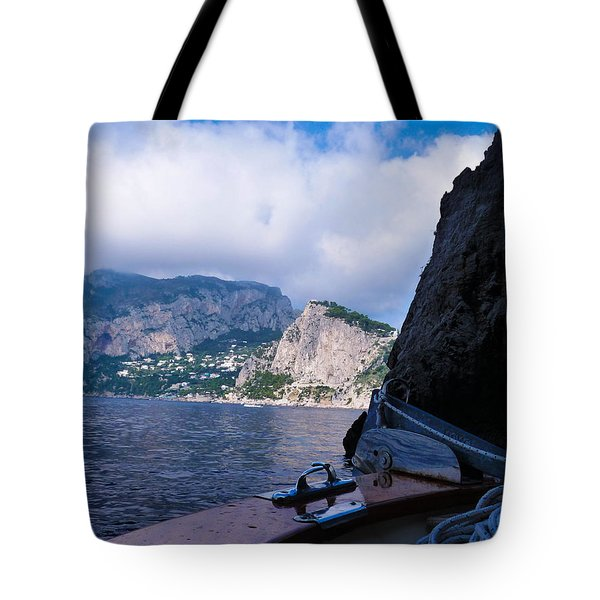 Tote Bag featuring the photograph Boat Ride To Capri by Mike Ste Marie
