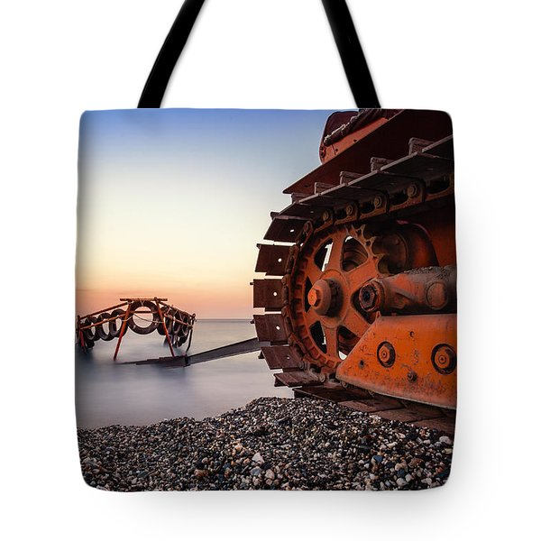 Boat Tractor Tote Bag