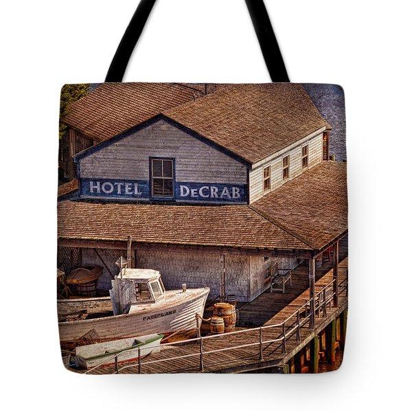 Boat - Tuckerton Seaport - Hotel Decrab  Tote Bag by Mike Savad