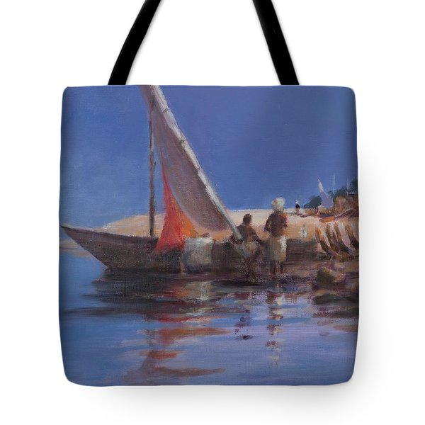 Boat Yard, Kilifi, 2012 Acrylic On Canvas Tote Bag