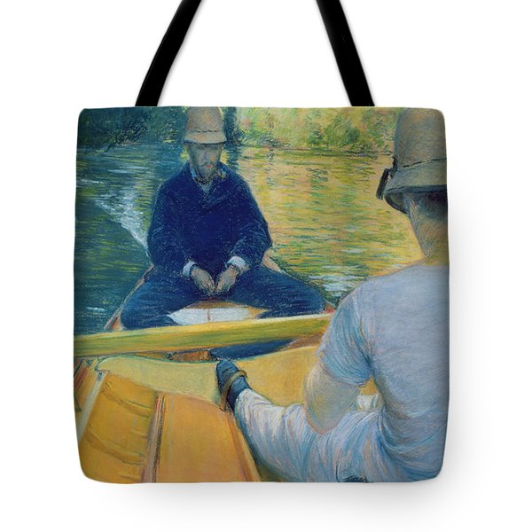 Boaters On The Yerres Tote Bag by Gustave Caillebotte