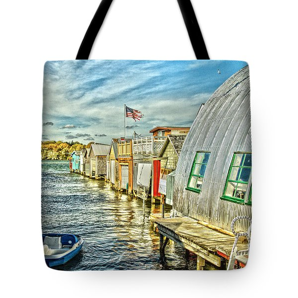 Boathouse Alley Tote Bag by William Norton