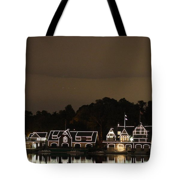 Boathouse Row Tote Bag by Christopher Woods