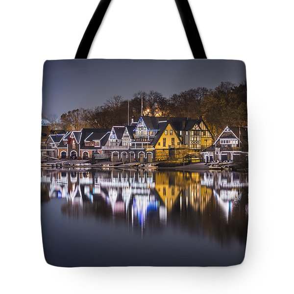 Boathouse Row Tote Bag by Eduard Moldoveanu