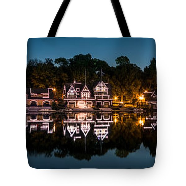 Tote Bag featuring the photograph Boathouse Row Panorama by Mihai Andritoiu