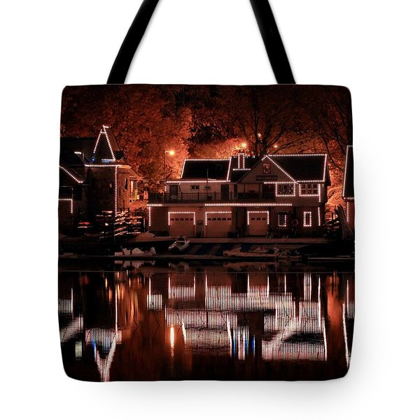 Boathouse Row Reflection Tote Bag