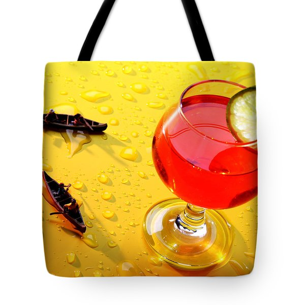 Boating Around A Red Cup Tote Bag by Paul Ge