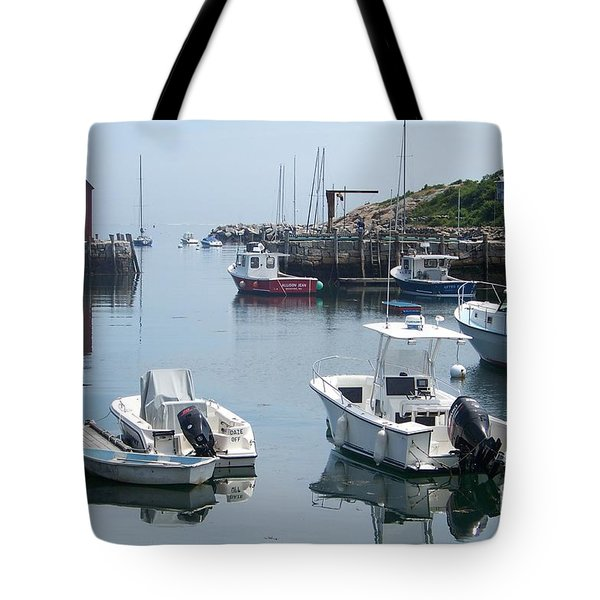 Tote Bag featuring the photograph Boats On The Water by Eunice Miller