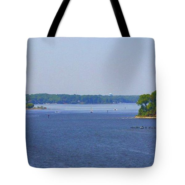 Boating On The Severn River Tote Bag by Patti Whitten