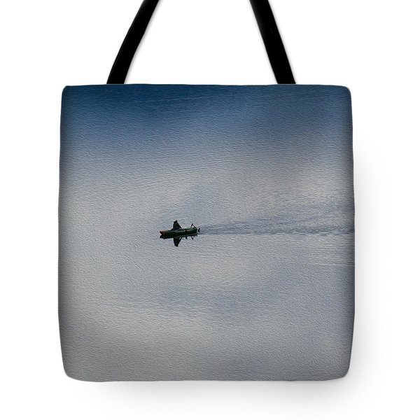 Boating Through The Clouds Tote Bag by Omaste Witkowski